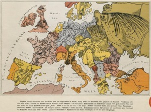 german cartoon map
