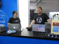 Carolyn and Daryl, ready to engineer some happiness for WordPress users.