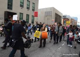 Marching in Downtown Baltimore (photo by Bill Hughes)