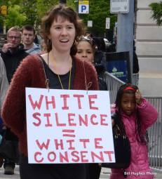 White Silence = White Consent sign (Photo by Bill Hughes)