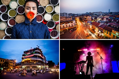 Various photographs from Hanoi, Vietnam.