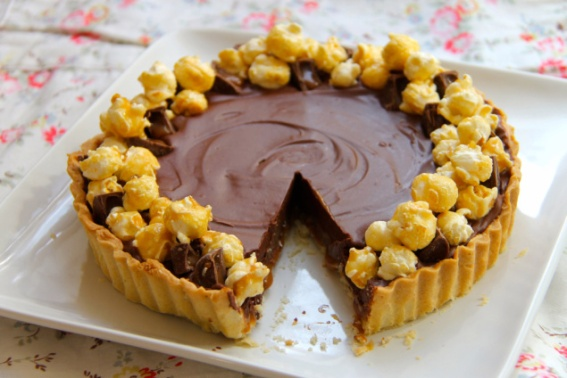Salted Caramel Chocolate Tart by Jane